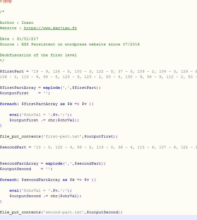 Datation code php site